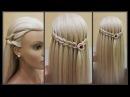 Прически.Коса водопад.Красивое плетение волос Beautiful hair weaving.