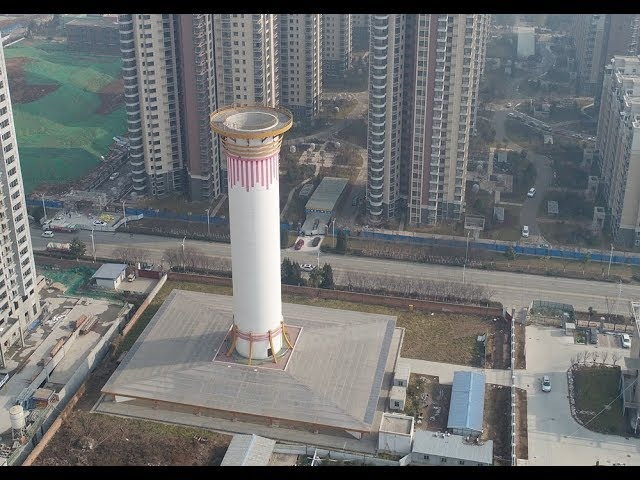 Giant air purification tower tackles smog