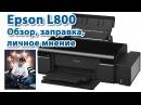 Принтер Epson L800 Обзор заправка личное мнение