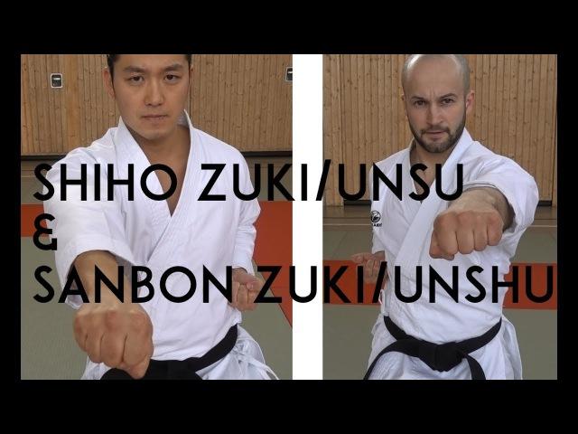 SHIHO ZUKI for UNSU and SANBON ZUKI for UNSHU SHOTOKAN SHITO RYU TEAM KI