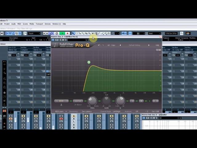 Arbeiten mit Cubase 5 - Dubstep Mix 02