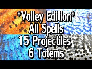 Path of Exile 3.1: Volley Edition - All Projectile Spells /w 6 Totems & 15 Projectiles + MTX's
