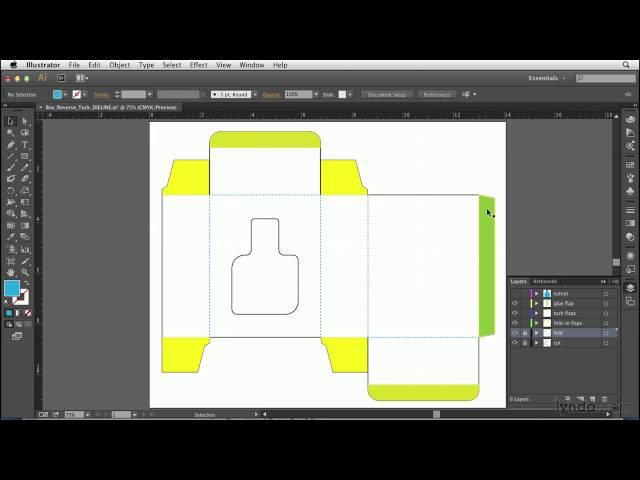Print production tutorial Reading a dieline cut vs fold indicators flaps etc