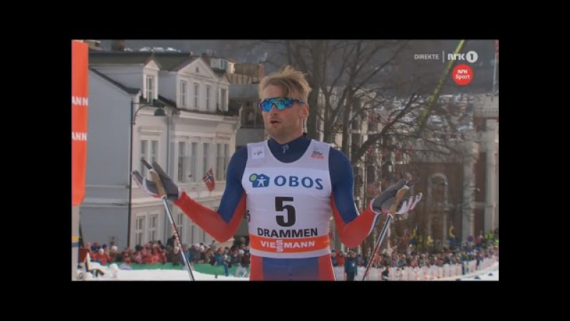Petter Northug wins sprint [C] gets 1st victory of the season - Drammen 2016