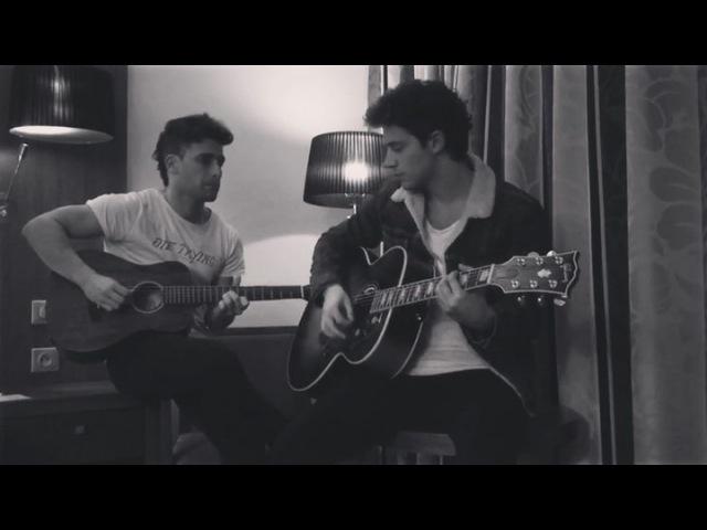 """Gastón Vietto on Instagram: """"Con el reys @ruggeropasquarelli haciendo música entre ciudades 🎶esta vez Two Ghosts @harrystyles 🤙 twoghosts harry..."""