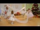 Красивый танец с тканью Новогодний утренник д детском саду