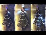 Елка из автомобилей у Собора Рождества Христова в Южно-Сахалинске