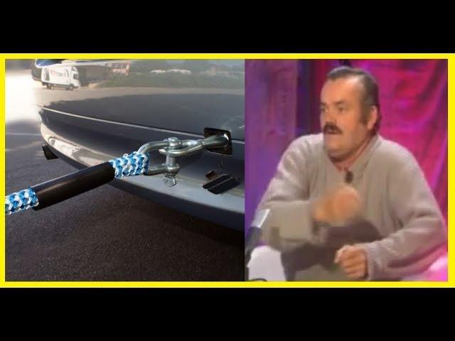 Как испанец на буксире машину тащил