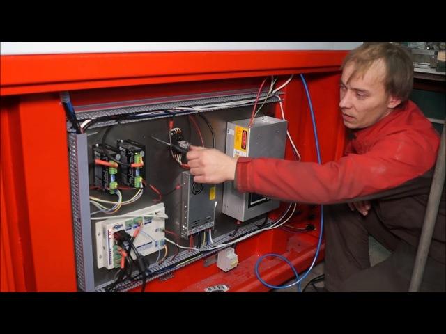Пробный пуск и Обзор автоматики Лазерного ЧПУ станка для резки и гравировки неметаллов