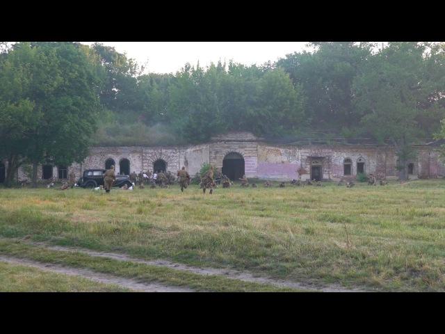 Реконструкция начала Великой Отечественной войны Брест 2016 4к видео