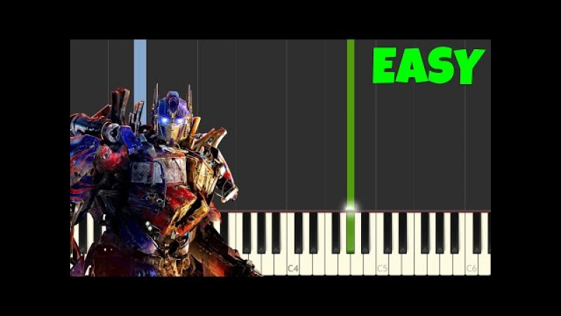 Transformers [Easy Piano Tutorial] (SynthesiaSheet Music)