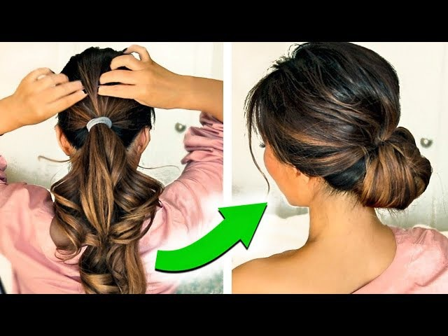 ★ 3 ❌ 2-MINUTE HOLIDAY UPDO HAIRSTYLES 2017 ❌ with PUFF! EASY EVERYDAY BUNS FOR LONG MEDIUM HAIR