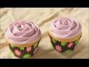 Миндальные кексы с украшением в виде розочки