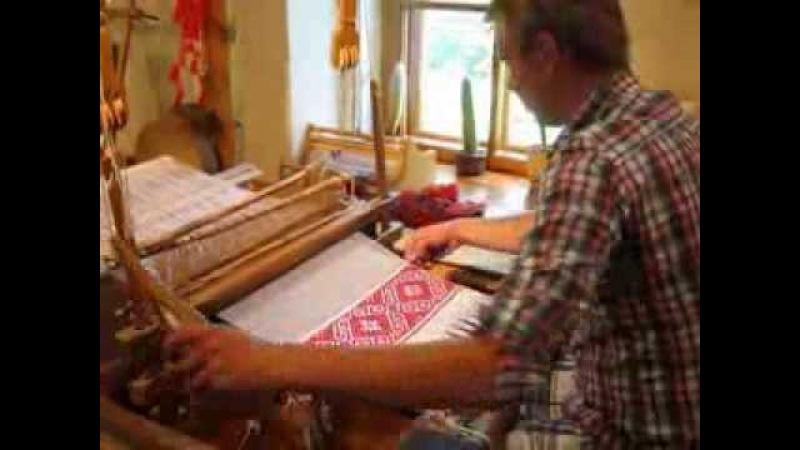 уроки ткачества полотенца. Гомель. Посетитель номер 1