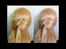 Просто, быстро за 5 минут:причёска на каждый день: в школу, на работу для средних/длинных волос