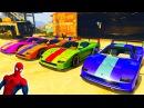 Мультики про Цветные Машинки для детей Человек Паук и Супергерои Мультики про М ...