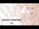 [하농 스피드 페인팅]SPEED PAINTING CLIP STUDIO PAINT/초코별사탕 미쿠 그리기(선화)