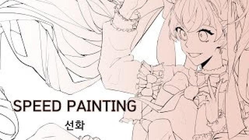 하농 스피드 페인팅 SPEED PAINTING CLIP STUDIO PAINT 초코별사탕 미쿠 그리기 선화
