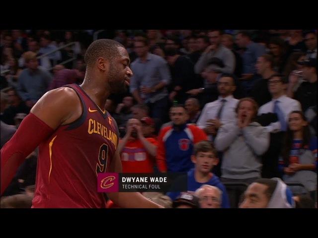 Dwyane Wade Gets Technical Foul | Cavaliers vs Knicks | November 13, 2017 | 2017-18 NBA Season