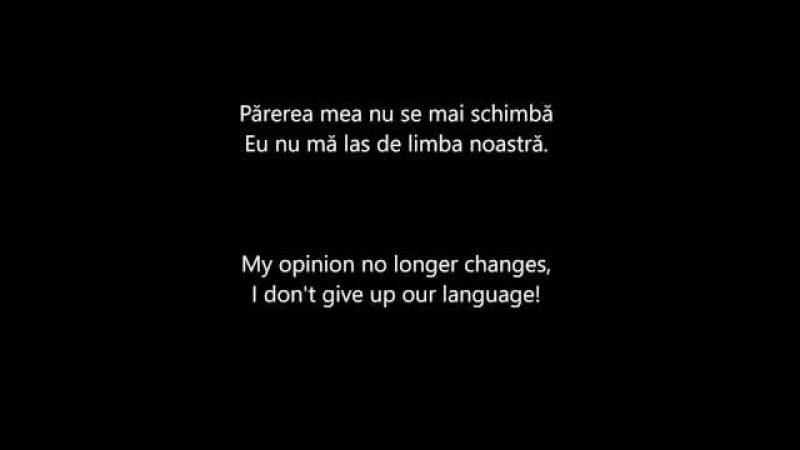 O-Zone — Nu Ma Las de Limba Noastra (Romanian and English lyrics)