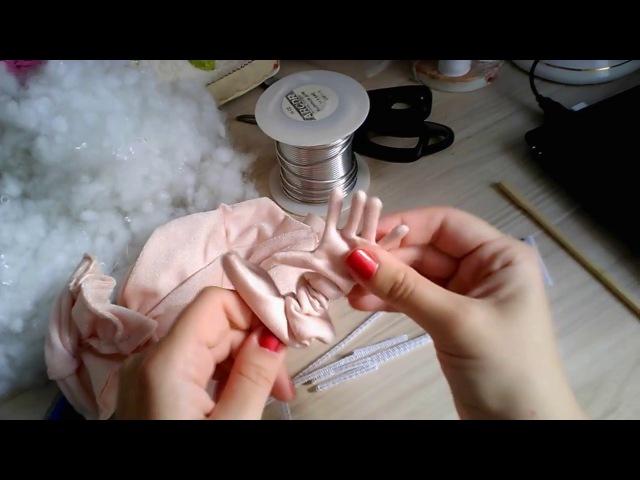 Как сделать проволочный каркас для пальцев рук и ног куклы (по выкройке Джилл Маас/ Jill Maas