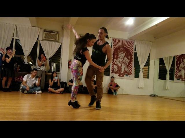 Ry'El and Jessica Lamdon Honolulu Zouk Demo 1 2017