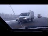 Гружёная досками фура угодила в кювет на трассе Сызрань-Хвалынск