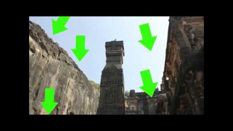Храм Кайласа в пещерах Эллоры вырезан из целой скалы