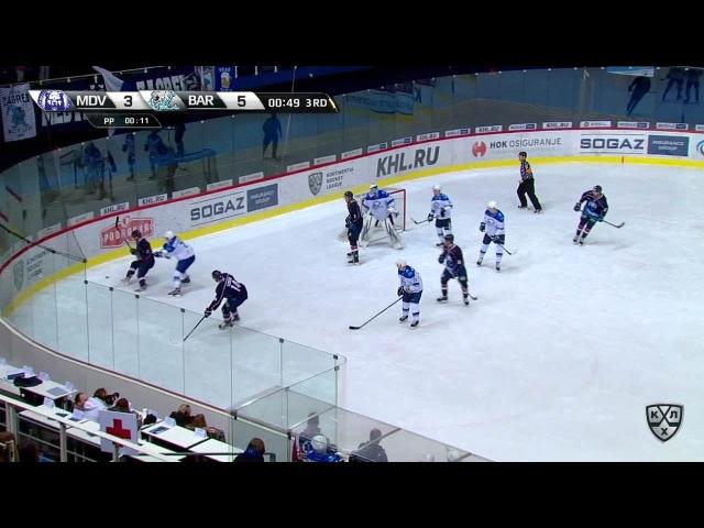 Моменты из матчей КХЛ сезона 16/17 • Гол. 4:5. Безина Горан (Медвешчак) в ближнюю девятку 11.01