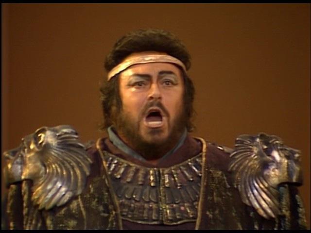 Aida Pavarotti, Chiara, Dimitrova, Pons, Ghiaurov; Teatro alla Scala, Lorin Maazel, 1985