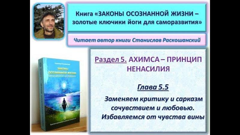 Книга ЗАКОНЫ ОСОЗНАННОЙ ЖИЗНИ. Глава 5.5. Читает автор книги - Станислав Раскошан...