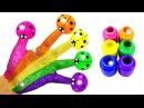 СЕМЬЯ ПАЛЬЧИКОВ НА РУССКОМ Поем песенку про пальчики Finger Family и учим цвета с Игру ...