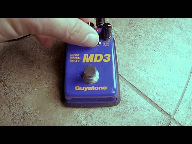 Guyatone MD3 Micro Digital Delay review and demo - Great for post rock and walls of noise