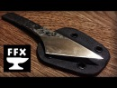 How to make a Kiridashi Neck Knife from a Lawnmower Blade (3 day knife making challenge)
