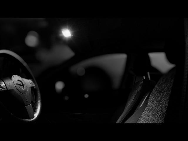 Opel Astra H - żarówki LED, wymiana oświetlenia podsufitki
