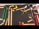 Изобретательность и точный расчет невероятная машина Голдберга из подручных материалов
