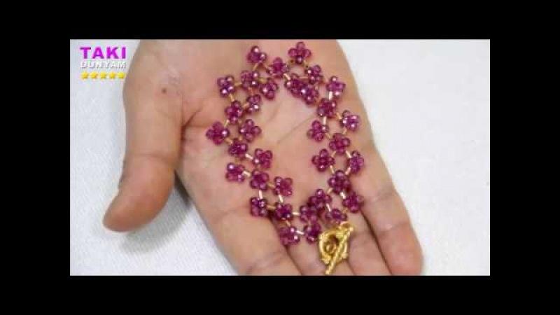 Takı Takı Tasarımı En Pratik Kristal Kırık Boru Boncuklu Bileklik Yapımı DETAYLI VE SESLİ ANLATIM