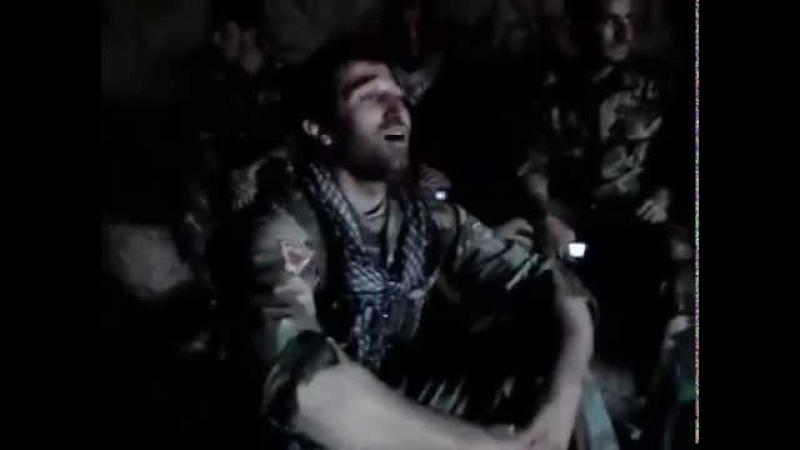 Suriyada Sehid olmus azeri komandir Ana mahnisini ifa edir
