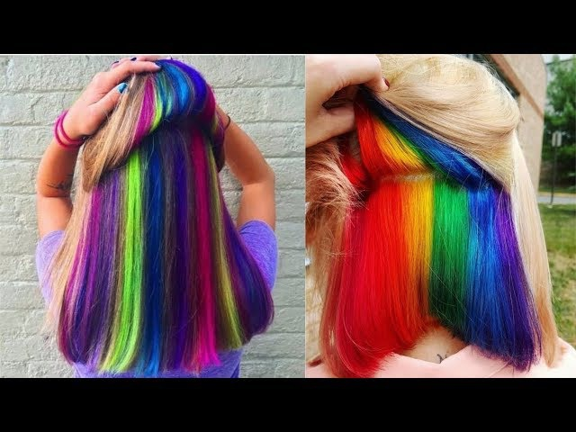 Amazing HAIRSTYLES TUTORIAL - New Hair Color Transformations