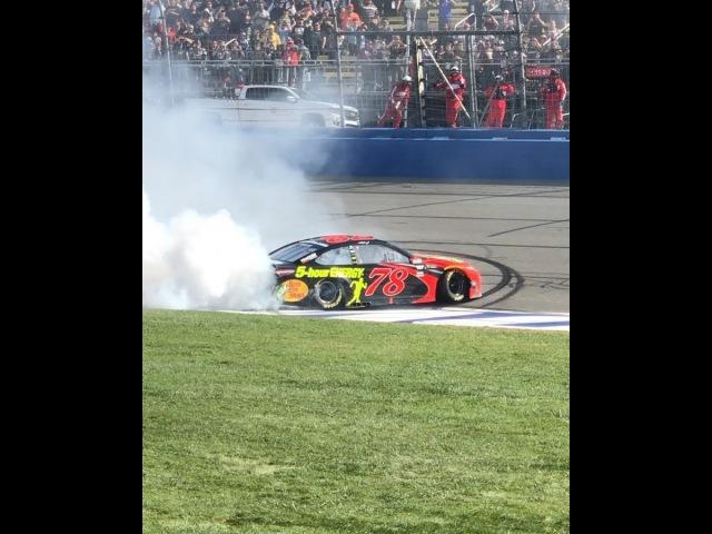 """NASCAR on Instagram: """"Rate this burnout 1-10! Strong effort @martintruex_jr! NASCARGoesWest NASCAR LA LosAngeles"""""""