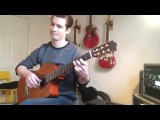 Bach Two-Part Invention No. 6 for solo guitar