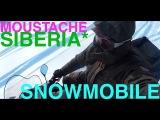 RIDING ON SNOWMOBILE  RUSSIA SIBERIA  POLARIS WIDETRAK LX