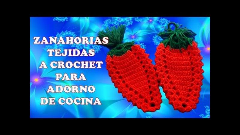ZANAHORIAS CARROTS tejidas a crochet para agarraderas de ollas o adorno de cocina