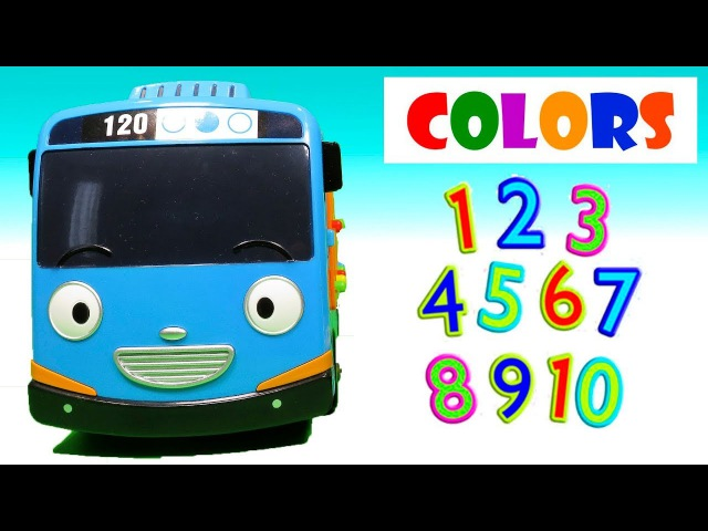 Learn colors with little Bus Tayo learning numbers with Blue Bus toys for kids toddlers playclaytv