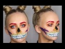 SKULLS FOR HALLOWEEN PART 2 RAINBOW FESTIVAL SKULL MAKEUP TUTORIAL INGLOT AUSTRALIA