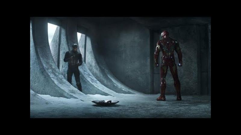 Homem de Ferro vs Capitão América e Bucky DUBLADO HD | Capitão América: Guerra Civil (2016)
