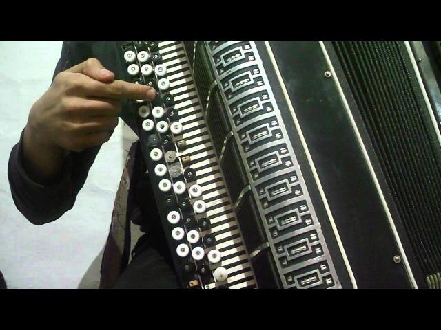 расположение нот правой клавиатуры баяна