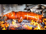 Street Food - Whole Pig Roast in Bali - Babi Guling! (WARNING Includes Whole Pig Roasting)