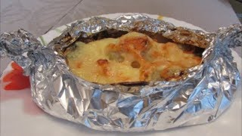 Рыба запеченная в фольге с картошкой в духовке
