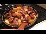 Как правильно жарить картошку . Картошка с Мясом .